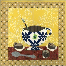 Coffee I by Ramona Jan Ceramic Tile Mural POV-RJA009