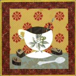 Coffee IV by Ramona Jan Ceramic Accent & Decor Tile POV-RJA012AT