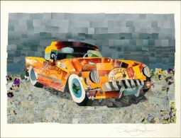 Fantasy Car 5 by Ramona Jan Ceramic Accent & Decor Tile POV-RJA017AT