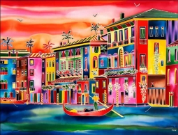 Venice Afternoon by Ron Mondz Ceramic Accent & Decor Tile - POV-RMA008AT