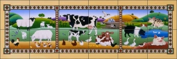 Country Folk by Raul del Rio Ceramic Tile Mural POV-RR014