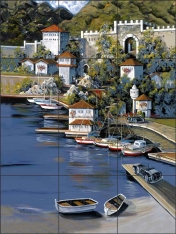 Adriatic Autumn by Tisha Whitney Ceramic Tile Mural POV-TWA029