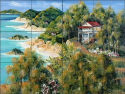 Caribbean Light by Tisha Whitney Ceramic Tile Mural POV-TWA031