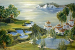 Newport Coast by Tisha Whitney Ceramic Tile Mural POV-TWA033