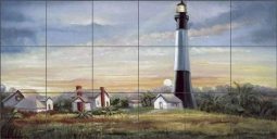 Davenport Nautical Lighthouse Ceramic Tile Mural POV-WDA003