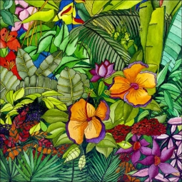 Tropical Immersion by Ruth Daniels Ceramic Accent & Decor Tile - RD005AT