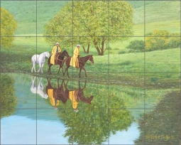 Reflections by Ralph Delby Ceramic Tile Mural RDA006