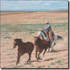 "Delby Western Cowboy Ceramic Accent Tile 6"" x 6"" - RDA007AT2"