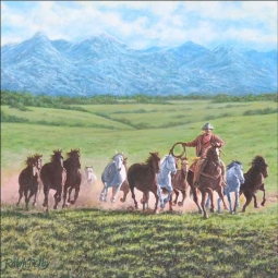 Green Valley Herd by Ralph Delby Floor Accent Tile - RDA012AT