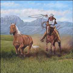 Delby Western Cowboy Ceramic Accent Tile - RDA014AT