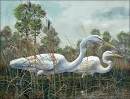 Splendor in the Grass by Robert Binks Ceramic Accent & Decor Tile - REB022AT
