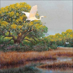 Morning Flight by Robert Binks Ceramic Accent & Decor Tile - REB028AT