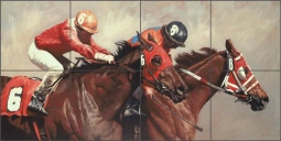 Winning Strides by Adeline Halvorson Ceramic Tile Mural - RW-AH009