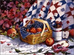Apple Cider by Ann McEachron Ceramic Tile Mural - RW-AM003