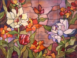 Tribute to Tiffany by Ann McEachron Ceramic Tile Mural RW-AM011