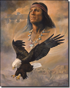 "Watson Native American Eagle Ceramic Accent Tile 8"" x 10"" - RW-DW006AT"