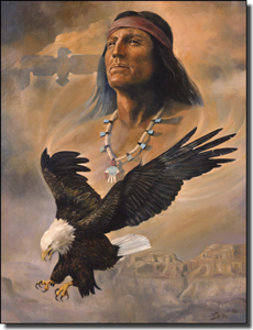 "Watson Native American Eagle Ceramic Accent Tile 6"" x 8"" - RW-DW006AT"