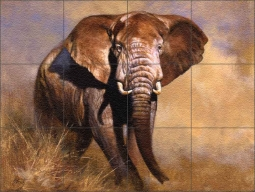 Elephant by Edward Aldrich Floor Tile Mural - RW-EA005FL