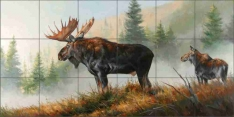 Lifting Mist by Edward Aldrich Ceramic Tile Mural RW-EA013