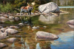 In the Shallows by Edward Aldrich Ceramic Tile Mural RW-EA017
