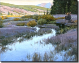 "Aldrich Moose Wildlife Ceramic Accent Tile 10"" x 8"" - RW-EA019AT"