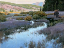 Moment of Calm by Edward Aldrich Ceramic Tile Mural RW-EA019