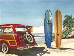 Drew Tropical Surfboards Ceramic Accent & Decor Tile - RW-EJD015AT