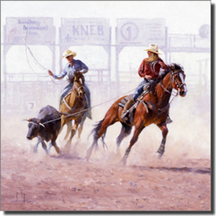 "Rey Cowboys Rodeo Ceramic Accent Tile 4.25"" x 4.25"" - RW-JRA002AT"