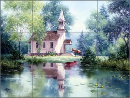 Beside the Still Water by Jack Sorenson Ceramic Tile Mural - RW-JS002