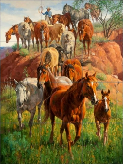 Ladies First by Jack Sorenson Ceramic Tile Mural RW-JS004