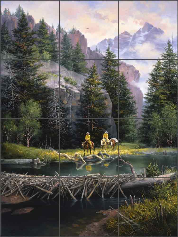 The Lure of the Rockies by Jack Sorenson Ceramic Tile Mural RW-JS005