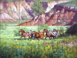 On the Canyon Floor by Jack Sorenson Ceramic Tile Mural - RW-JS006