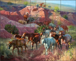 Into the Draw by Jack Sorenson Ceramic Tile Mural RW-JS009
