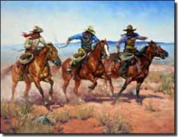 "Sorenson Western Cowboys Ceramic Accent Tile 8"" x 6"" - RW-JS013AT"