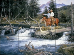 Bend of the River by Jack Sorenson Ceramic Tile Mural RW-JS015