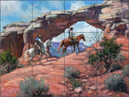 Between Rocks and Hard Places by Jack Sorenson Ceramic Tile Mural - RW-JS016