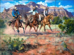 Hightailin' It by Jack Sorenson Ceramic Tile Mural RW-JS018