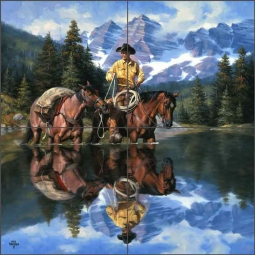 Reflections of the Rockies by Jack Sorenson Ceramic Tile Mural RW-JS020