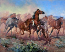 Runnin' Thunder by Jack Sorenson Ceramic Tile Mural RW-JS021