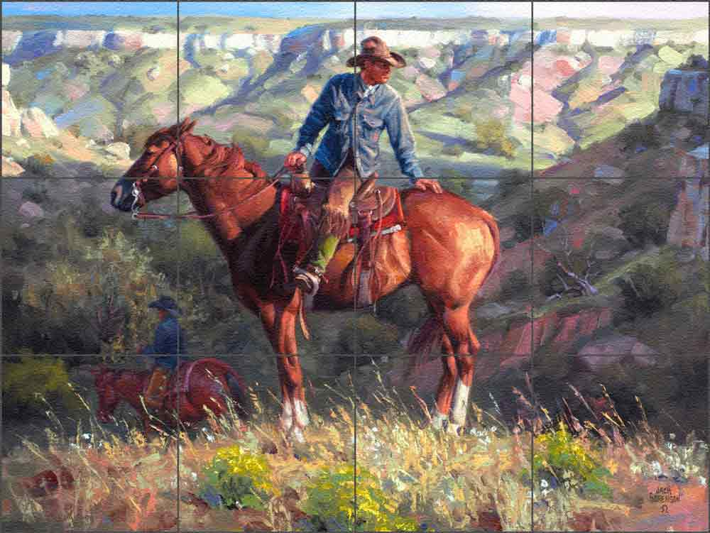 The Search by Jack Sorenson Floor Tile Mural RW-JS023