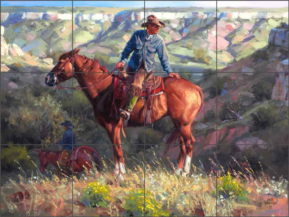 The Search by Jack Sorenson Ceramic Tile Mural RW-JS023