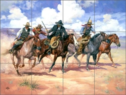 Then There Were Four by Jack Sorenson Ceramic Tile Mural RW-JS024