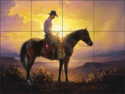 Thinkin by Jack Sorenson Ceramic Tile Mural - RW-JS026