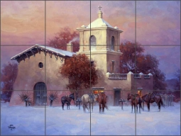 Cathedral Bells by Jack Sorenson Ceramic Tile Mural - RW-JS030