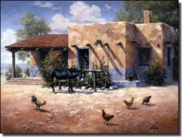 "Sorenson Southwest Roosters Ceramic Accent Tile 8"" x 6"" - RW-JS031AT"