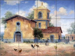 The Mission by Jack Sorenson Ceramic Tile Mural RW-JS033