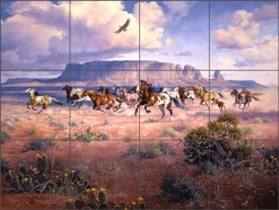 As Free As The Wind by Jack Sorenson Ceramic Tile Mural - RW-JS035