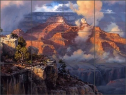 Sorenson Grand Canyon Landscape Ceramic Tile Mural - RW-JS040