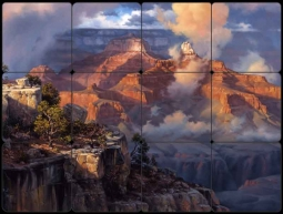 Whispers From God by Jack Sorenson Tumbled Marble Tile Mural