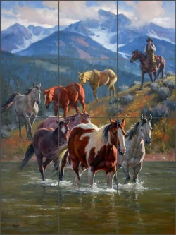 Down From High Country by Jack Sorenson Ceramic Tile Mural RW-JS043